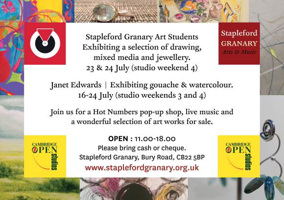 Open studios flyer Stapleford Granary 20162